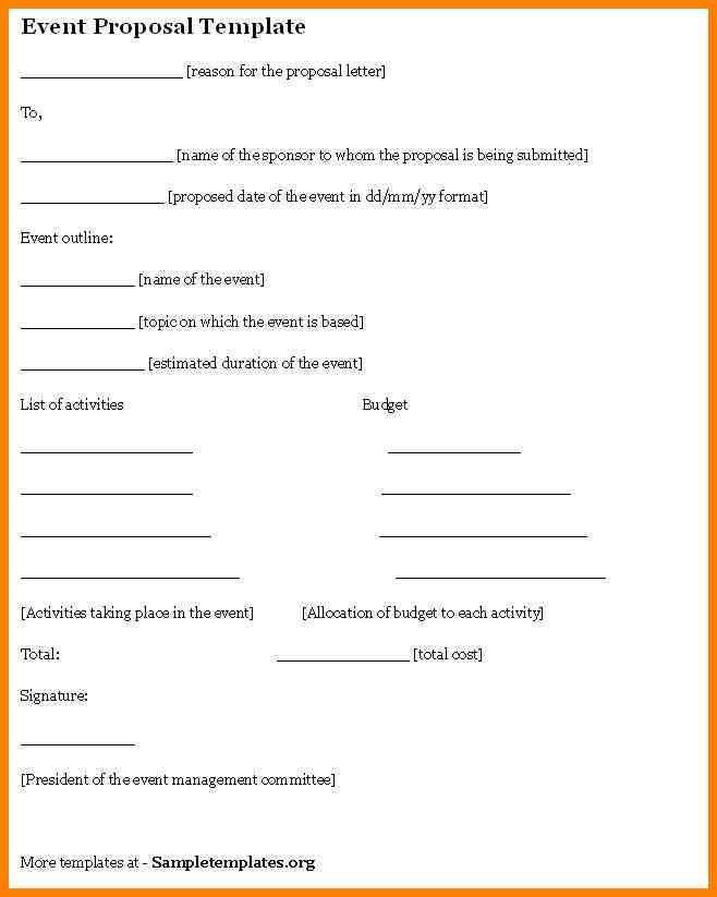 4+ event planning proposal sample | resume language