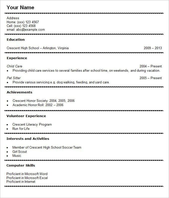 Student Resume Formats - Best Resume Collection