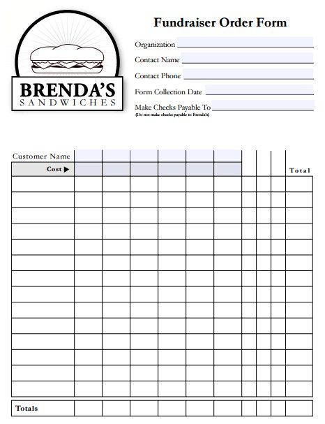 Fundraiser Order Form Template Free Archives - Templates Front