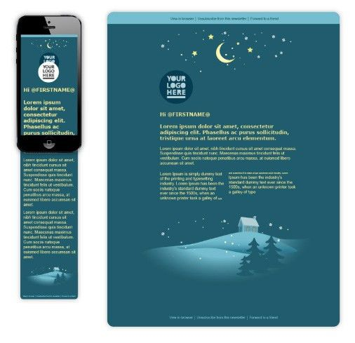 Free Christmas Card Template | Wired Marketing
