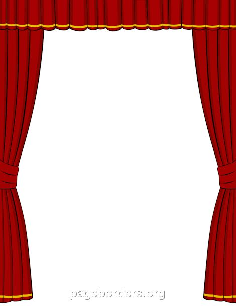 Printable red stage-curtain border. Use the border in Microsoft ...