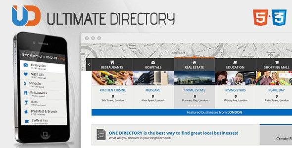 Directory - Responsive Site Template by CrunchPress | ThemeForest