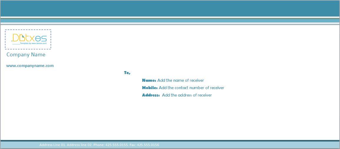 Business envelope template (Blue line) - Dotxes