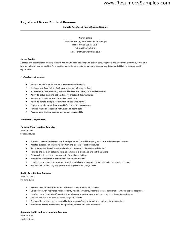 Nursing Resumes Templates. Entry Level Nurse Resume Template ...