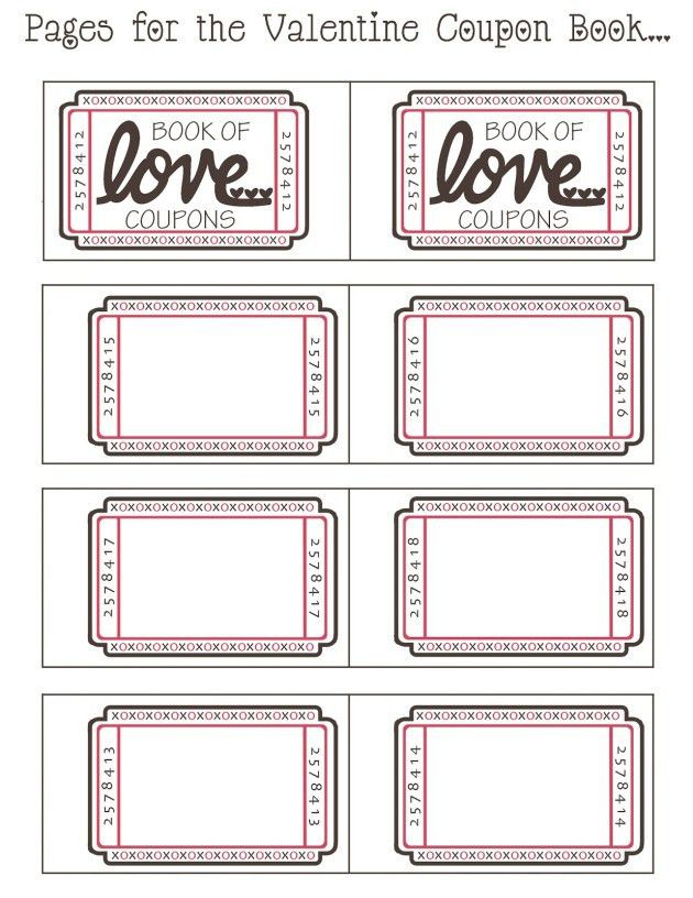 Blank Valentine Days Coupon Design Idea with Pink Color : Helloalive