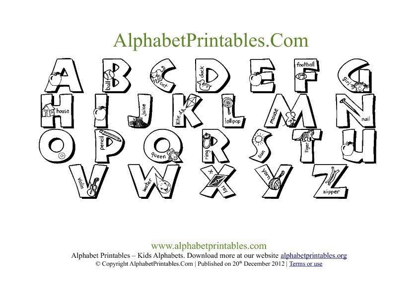 Printable PDF Alphabet Letter Chart Templates | Alphabet ...