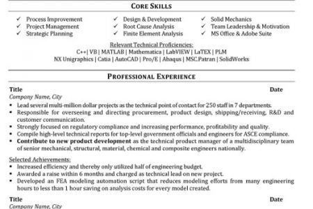 Download Design Mechanical Engineer Sample Resume ...
