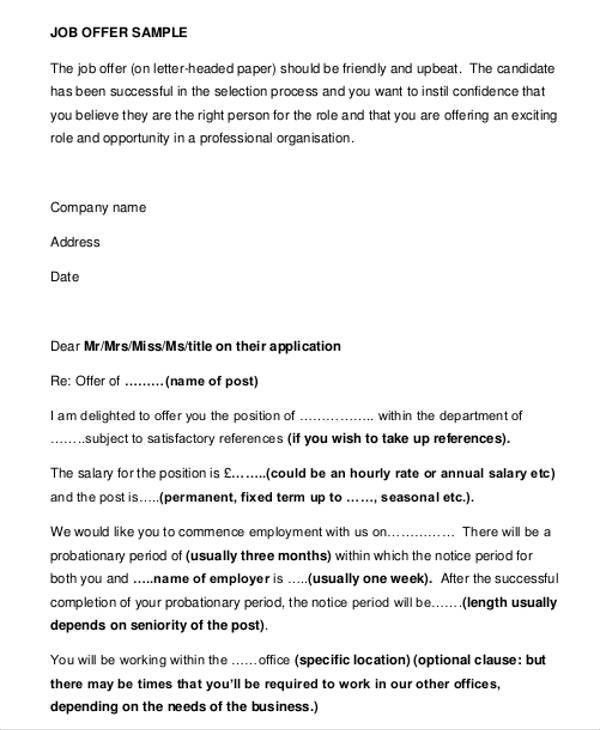 Business Offer Letter Format - cv01.billybullock.us