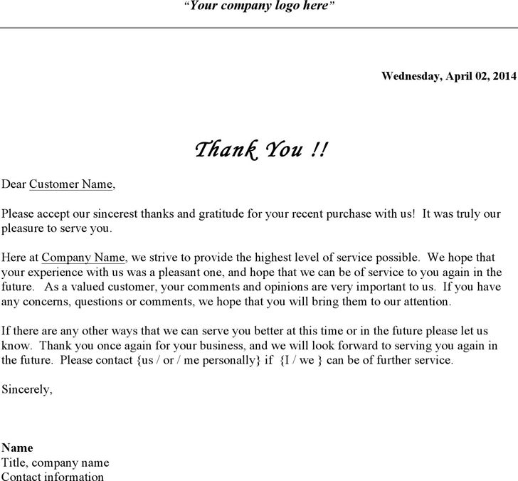 Thank You Letter Closings | Professional resumes sample online