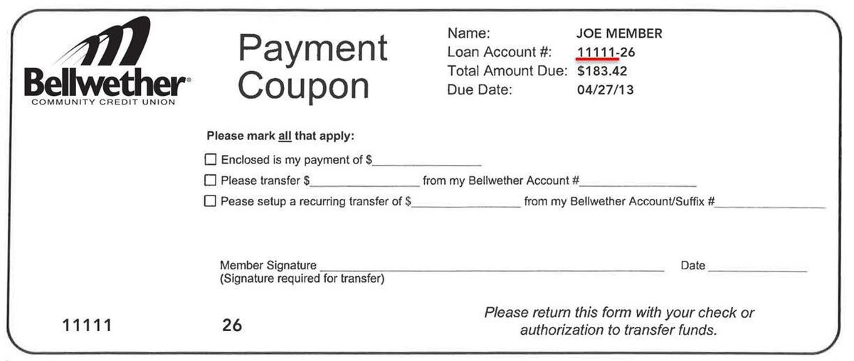 Bellwether Community Credit Union: Making a Loan Payment