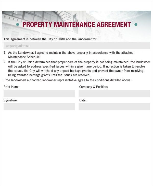 Maintenance Agreement Templates - 8+ Free Word, PDF Format ...
