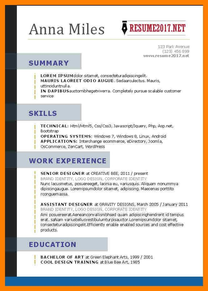 Functional Resume Template With Border   Professional resumes ...