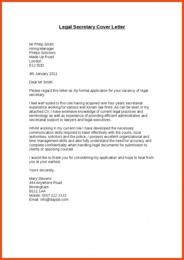 Legal secretary cover letter sample no experience : White homework ...