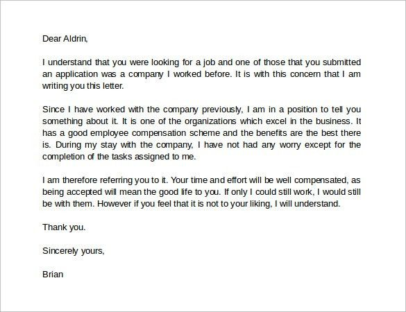 Best Recommendation Letter For Employer - Shishita-world.com