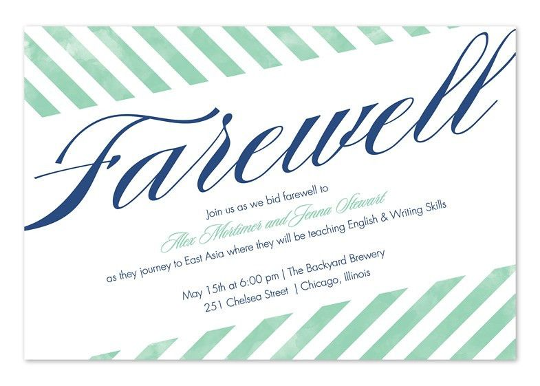 Party Invitations: Best Farewell Party Invitation Wording Cards ...
