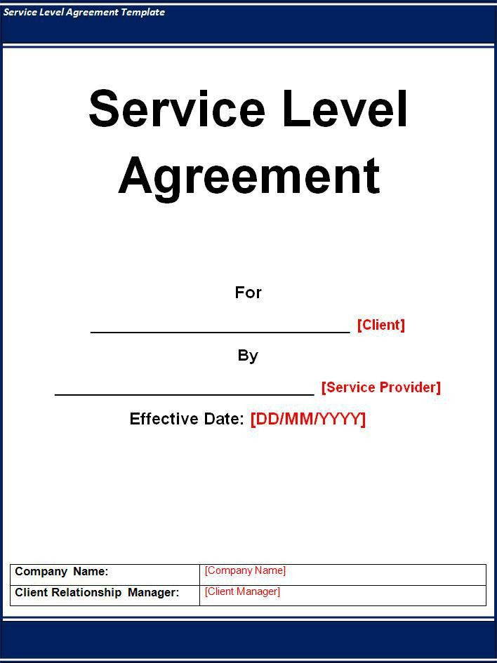 Free Service Level Agreement Template Archives - Fine Templates