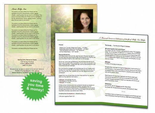 plain funeral program template sample. doc549424 funeral service ...