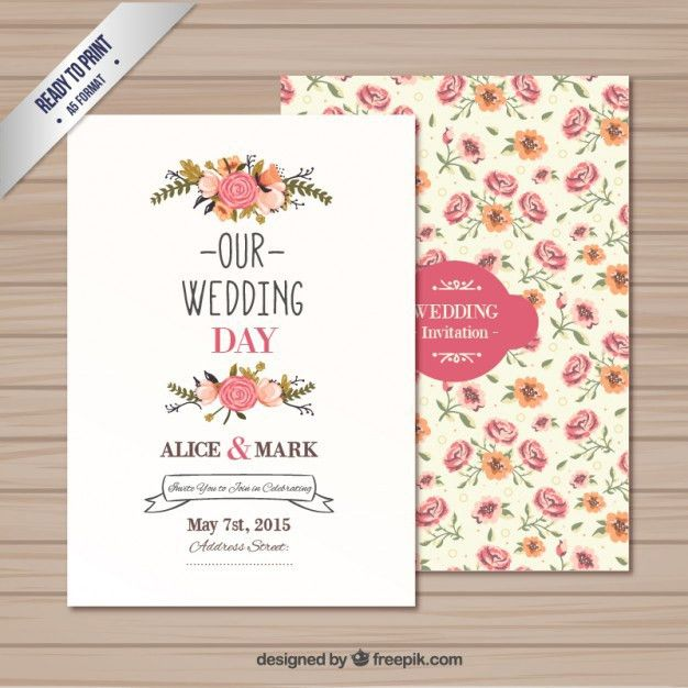 Wedding invitation template Vector | Free Download