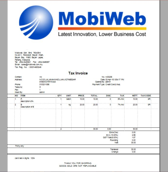 Point of Sales System Malaysia | Online POS System | Goods and ...