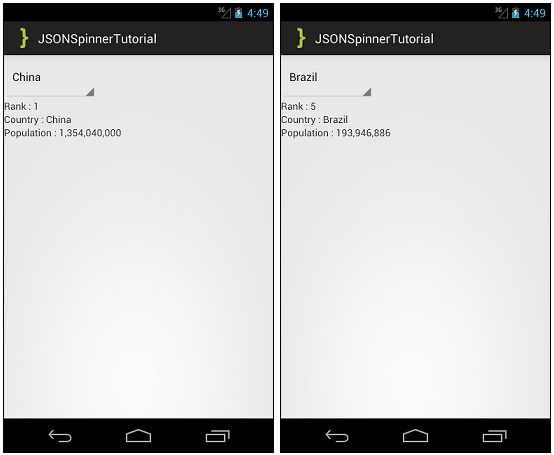 Android Populating Spinner with JSON Tutorial - AndroidBegin