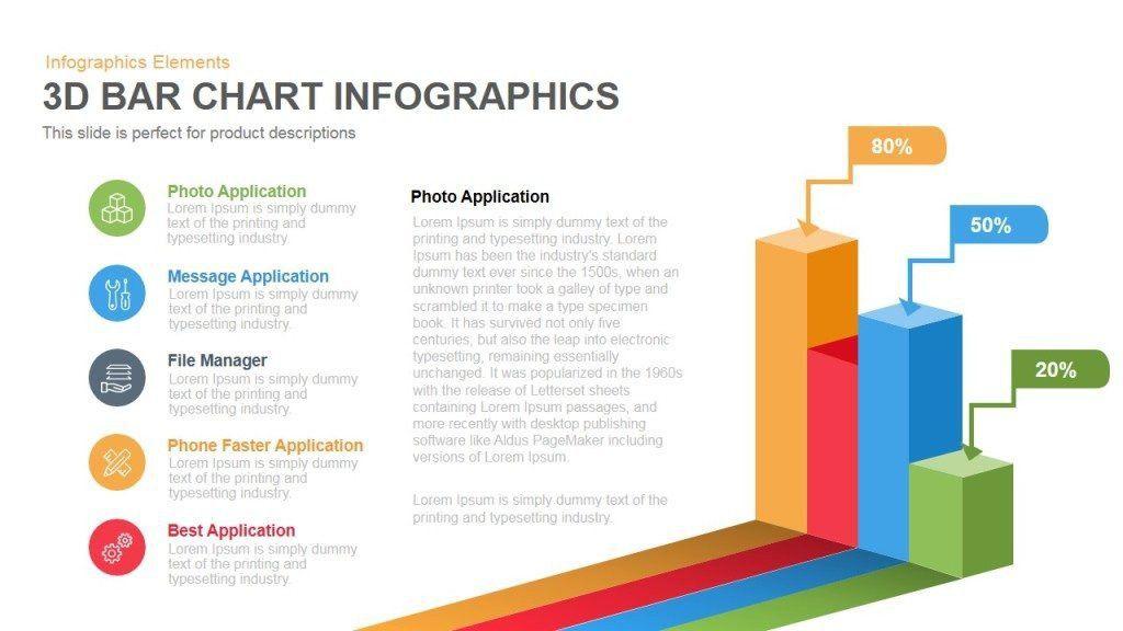 3d Bar Chart Infographics Powerpoint Keynote template | SlideBazaar