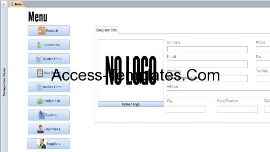 Microsoft Access Customers Invoices Quotes and Orders Templates ...