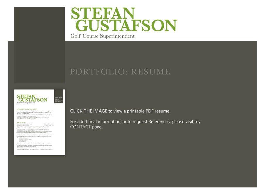 Stefan Gustafson :: Golf Course Superintendent