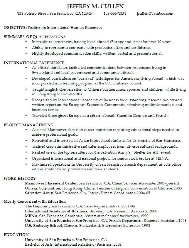 Resume Objective For College Student Resume For High School ...