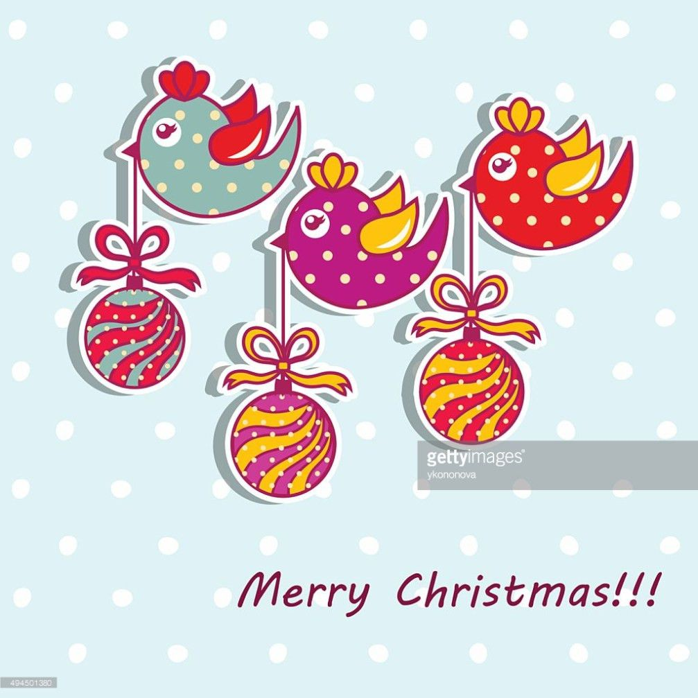 Sample Christmas Cards With Christmas Decorations Vector Art ...