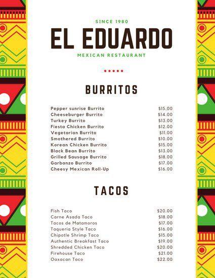 Mexican Menu Templates - Canva