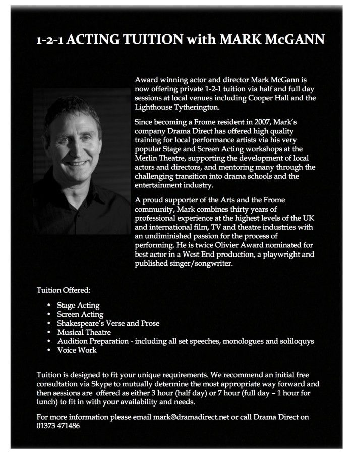 PROFESSIONAL ACTING TUITION – with Mark McGann | DRAMA DIRECT LTD