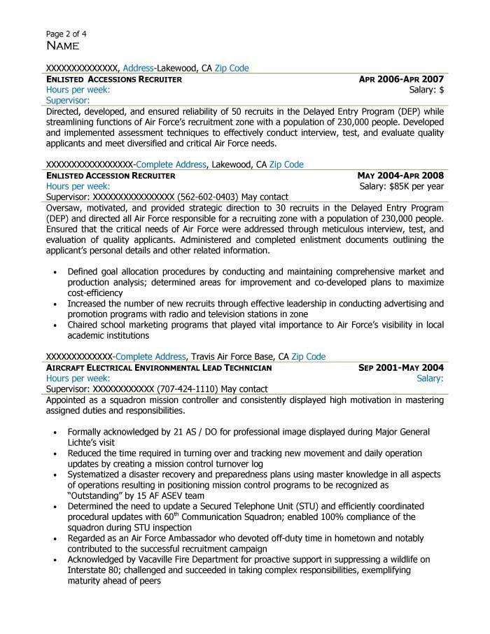 Sample Of Federal Resume Federal Resume Sample And Format The