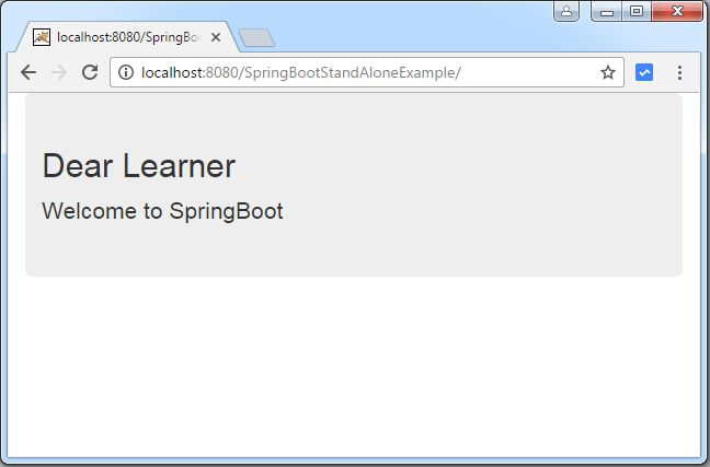 Spring Boot Introduction + hello world example - WebSystique