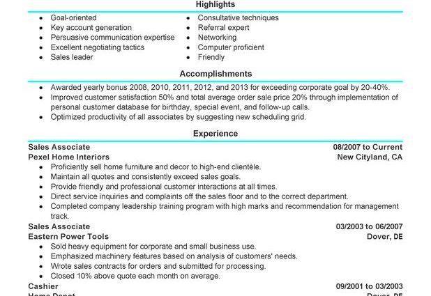 Sales Associate Resume Sample sales associate customer service ...