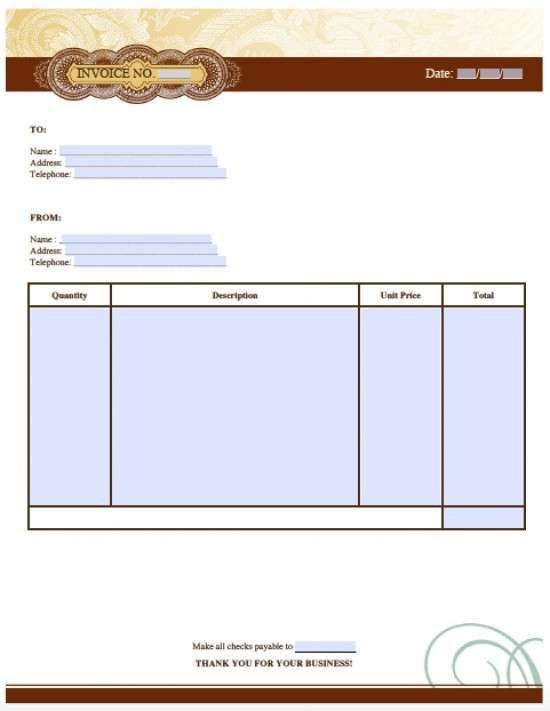 25 Free Invoice Templates for MS Word - XDesigns