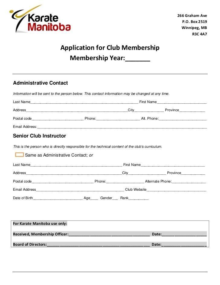 Membership Registration Form Template - Corpedo.com
