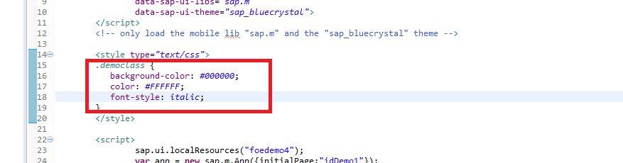 Embedding a custom CSS style class to a SAPUI5 control | SAP Blogs