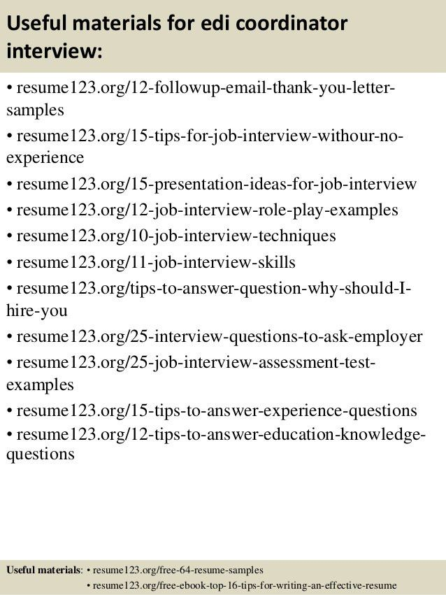 Edi Analyst Sample Resume cvfreepro