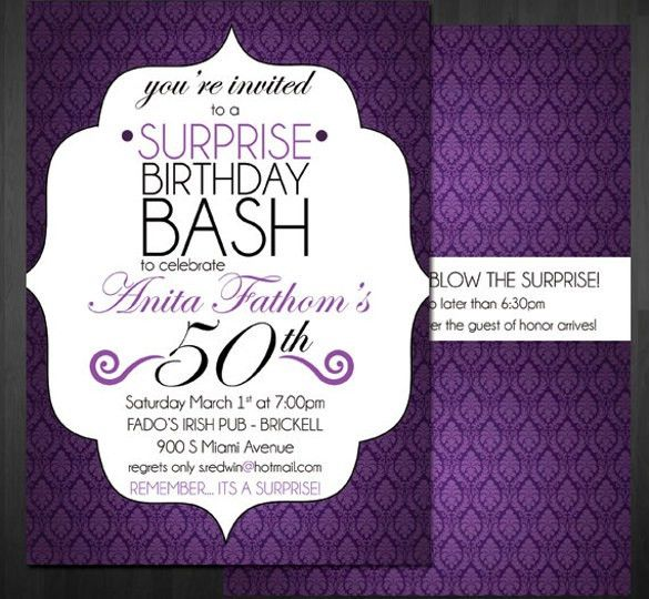 15 + Surprise Birthday Invitations - Free PSD, Vector EPS, AI ...