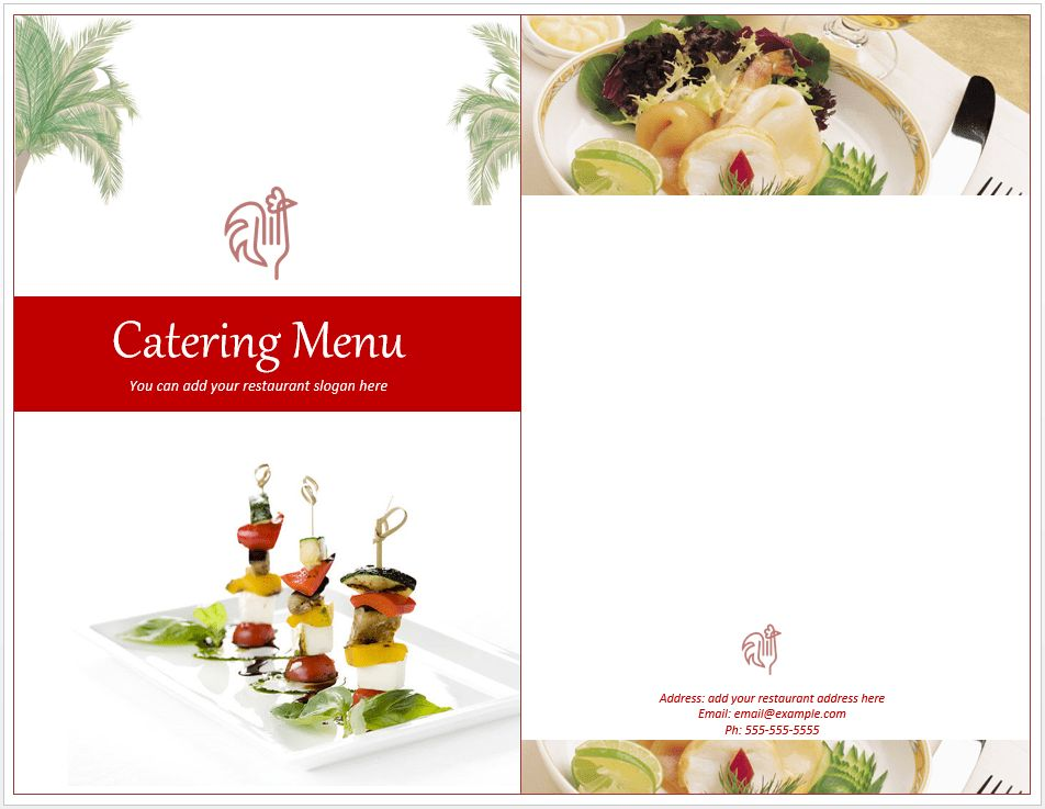 Venue Catering Menu Template – Free Template Downloads