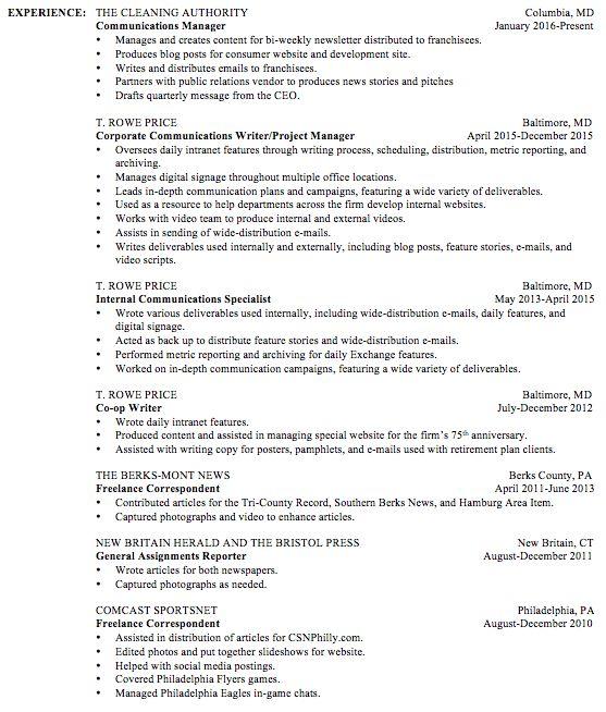 Resume | Brenda Maguire