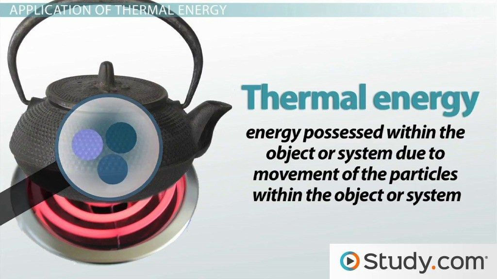 What is Thermal Energy? - Definition & Examples - Video & Lesson ...