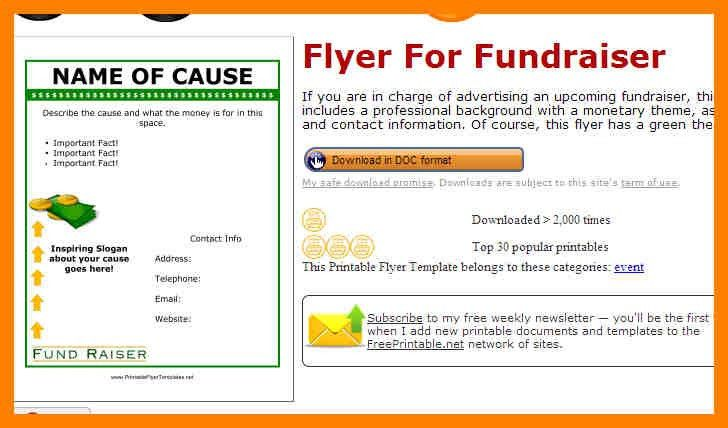 7+ fundraiser flyers template free | fancy-resume