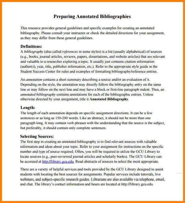 4+ annotated bibliography template apa | Annotated bibliography