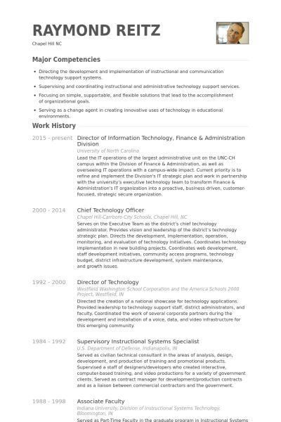 Director Of Information Technology Resume samples - VisualCV ...