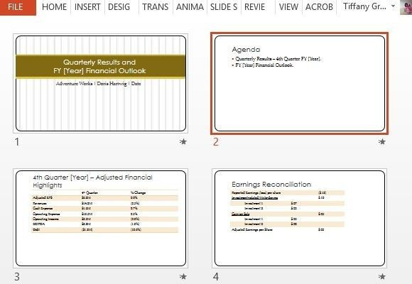 Quarterly Earnings Report Maker Template For PowerPoint