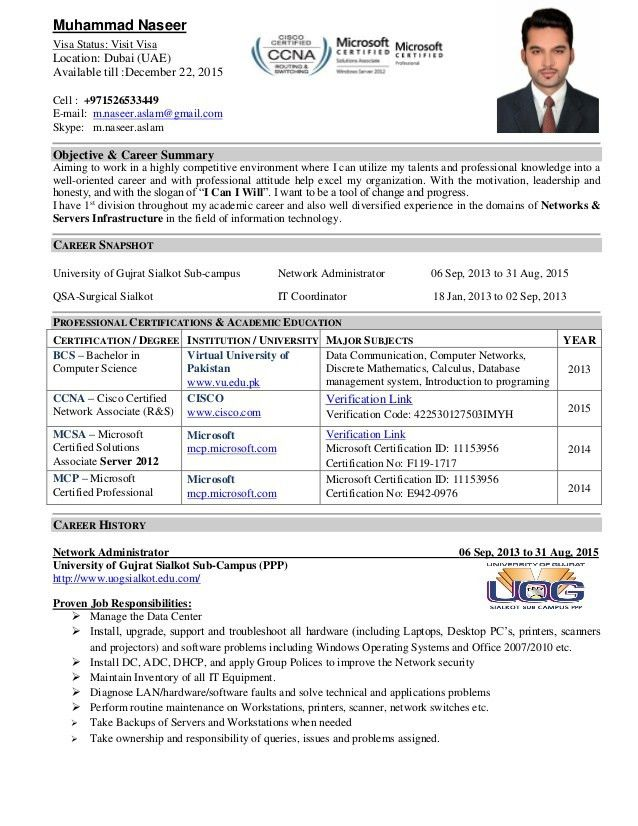 IT administrator Resume