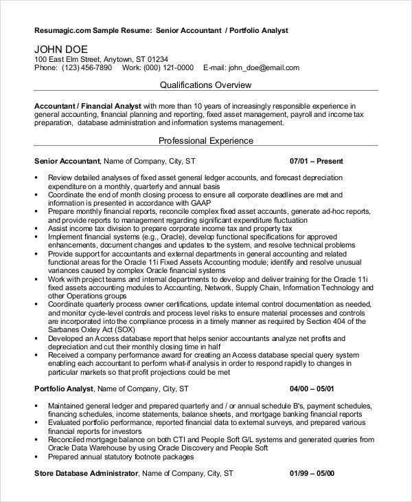 senior accountant resume examples unforgettable accountant resume portfolio analyst sample resume - Account Analyst Sample Resume
