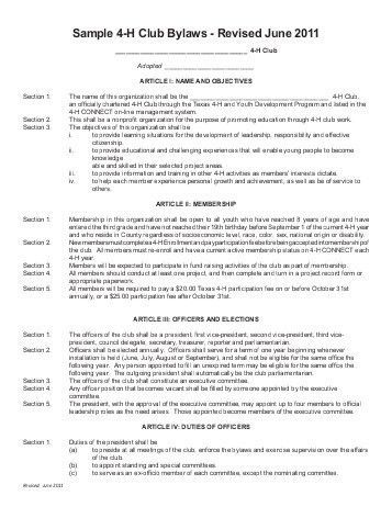 CENTRAL VALLEY 4-H CLUB BYLAWS FOR KINGS COUNTY, CA ...