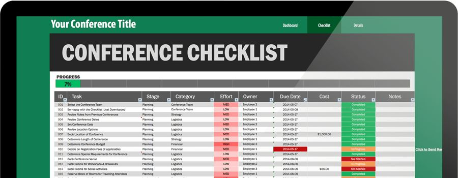 Ultimate 161-Step Conference Planning Checklist (Excel Template)